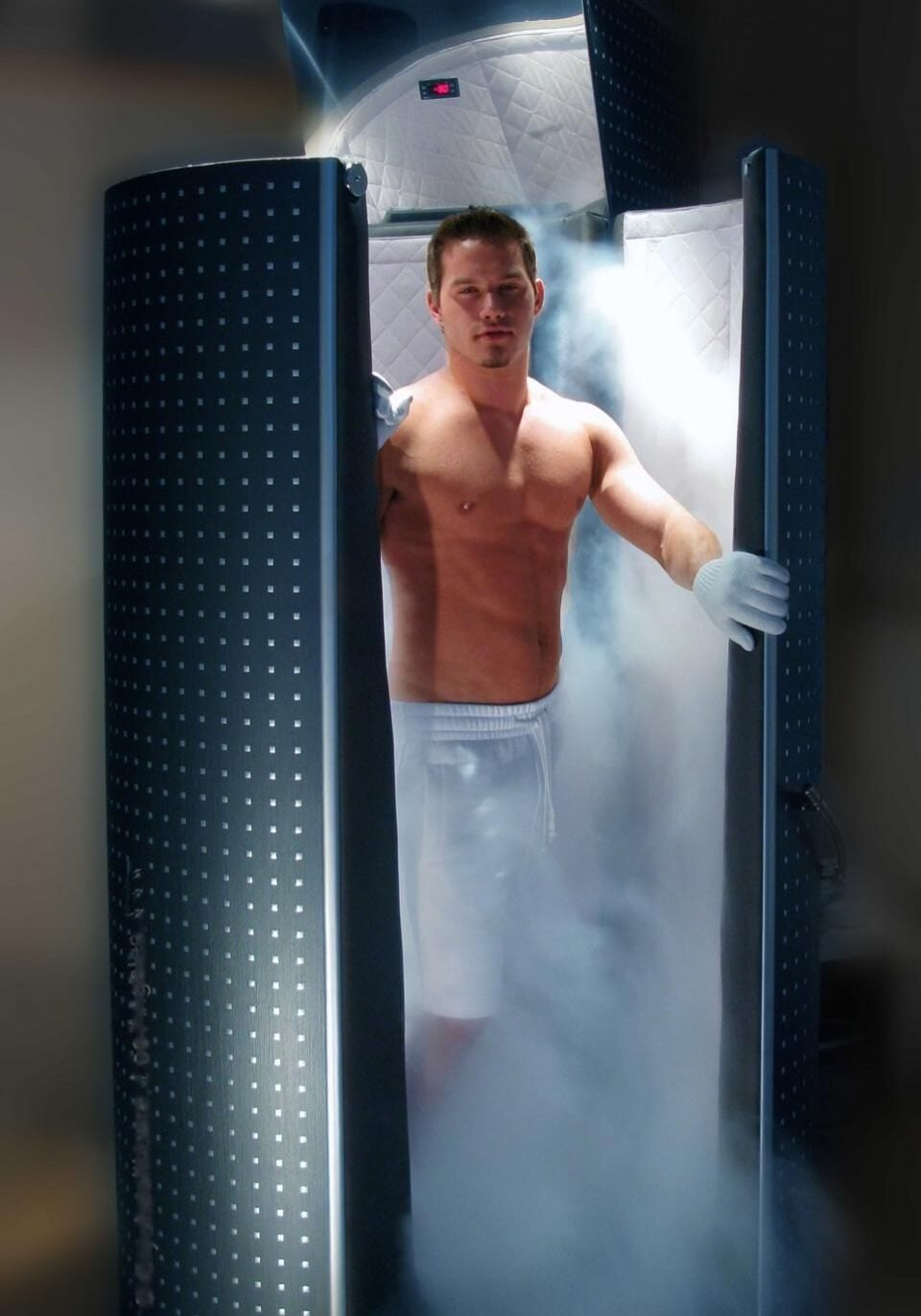 guy in cryotherapy